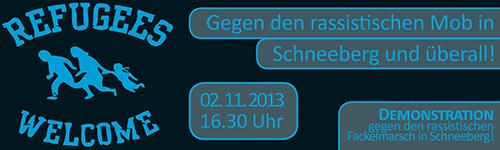 Antirassistische Demo am 2.11 in Schneeberg