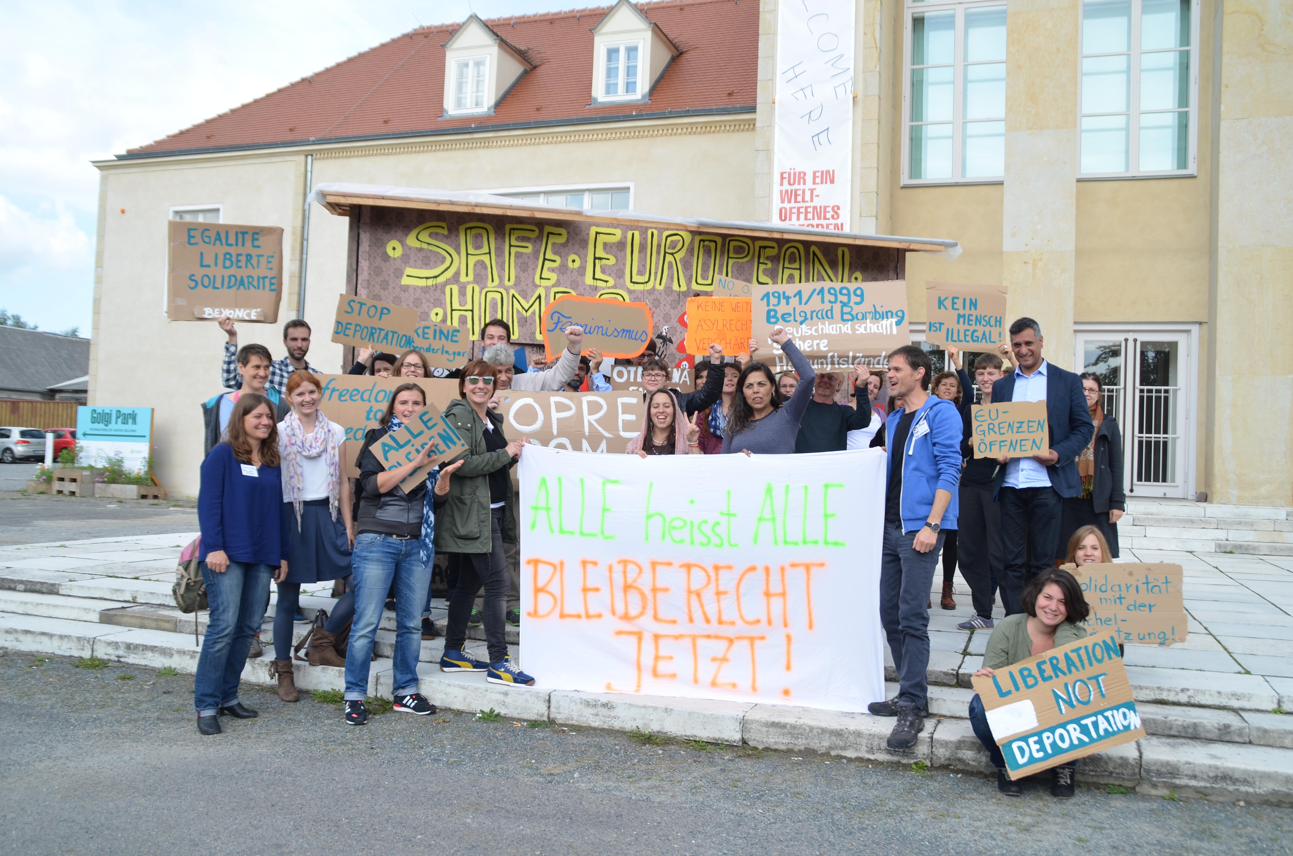 Solidaritätsaktion der Herbstschule für die Besetzer_innen des Hamburger Michel